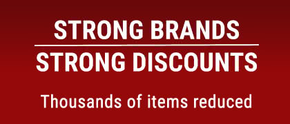 Strong Brands, strong discounts! More than 8,000 items reduced!