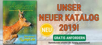 Jetzt GRATIS unseren Jagd-Katalog 2019 anfordern!
