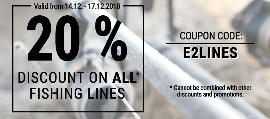 20% discount on all fishing lines!