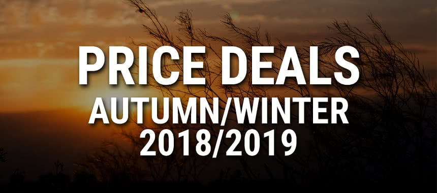 NEW: Our price deals Autumn/Winter 2018/2019! Discover now!