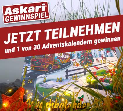 Askari Adventskalender 2021 - Jetzt gewinnen!