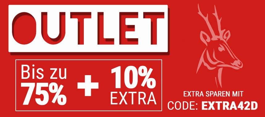 Alles muss raus! Outlet bis zu 75 % reduziert + 10 % EXTRA-RABATT!