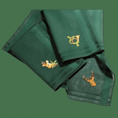 Taschentücher mit Jagdmotiven