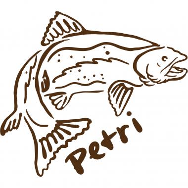 """Aufkleber """"Trout Petri"""""""