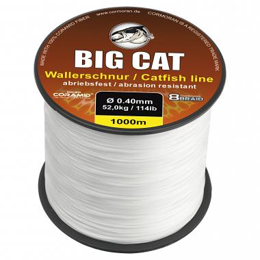 Cormoran Wallerschnur 8-Braid Big Cat (weiß, 1.000 m)