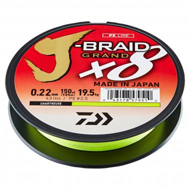 Daiwa Angelschnur J-Braid Grand X8 (chartreuse, 270 m)