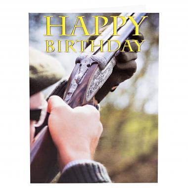 Geburtstagskarte mit Flintenmotiv