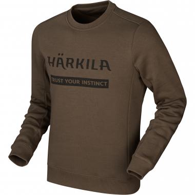 Härkila Herren Sweatshirt Logo (slate brown)