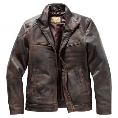 the latest 8cbf8 983a2 il Lago Prestige Herren Lederjacke BOSTON