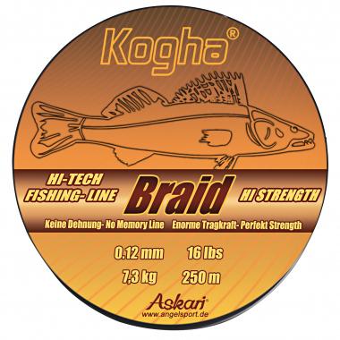 Kogha Angelschnur HI Strength Braid (mattgrün, 250 m)