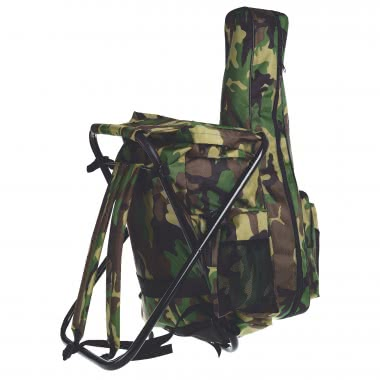 Rucksackhocker mit Rutentasche