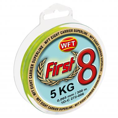 WFT Angelschnur First 8 KG Super Braid (chartreuse)
