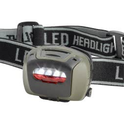 4 LED Kopflampe mit wechselbaren Linsen