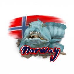 "Aufkleber ""Seawolf Norway"""