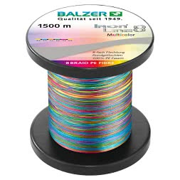 Balzer Angelschnur Iron Line 8 (multicolor, 1.500 m)