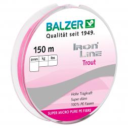 Balzer Angelschnur Iron Line (pink, 150 m)