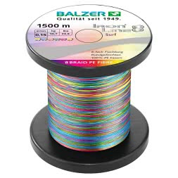 Balzer Angelschnur Iron Line Surf (multicolor, 1.500 m)