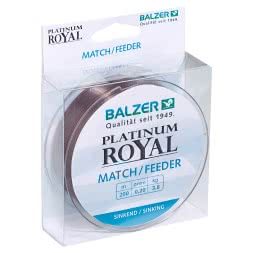 Balzer Angelschnur Platinum Royal Match / Feeder (platin, 200 m)