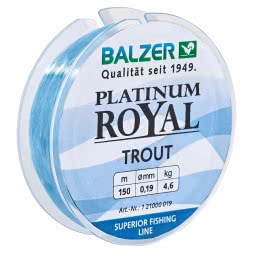 Balzer Angelschnur Platinum Royal Trout (blau)