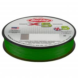 Berkley Angelschnur X5 Braid (Low-Vis Green, 300 m)
