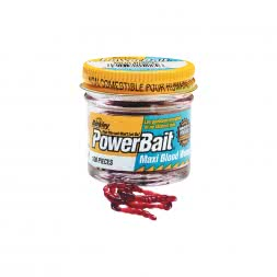 Berkley Soft Baits PowerBait Maxi Blood Worms (Zuckmückenlarven)