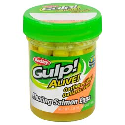 Berkley Softbait Gulp Alive Floating Salmon Eggs (Fluo-Orange)