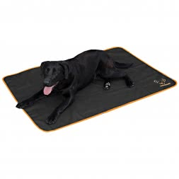 Bodyguard Dog Blanket schwarz