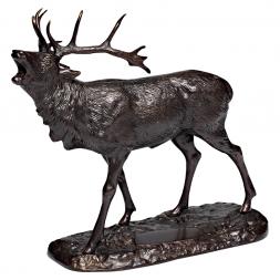 Bronze-Skulptur ROTHIRSCH