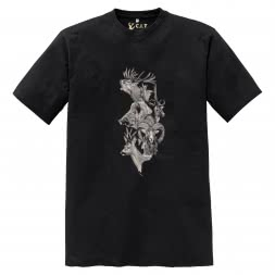 C.I.T Herren Jagd T-Shirt (schwarz)