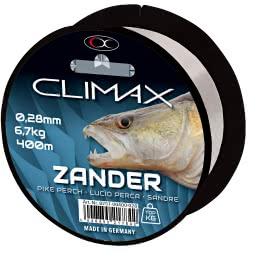 Climax Zielfischschnur Zander (hellgrau)