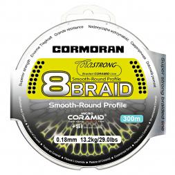 Cormoran Angelschnur CoraStrong 8-Braid (grün, 300 m)
