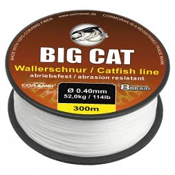 Cormoran Wallerschnur 8-Braid Big Cat (weiß, 300 m)