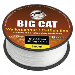Cormoran Wallerschnur 8-Braid Big Cat (weiß, 300 m)
