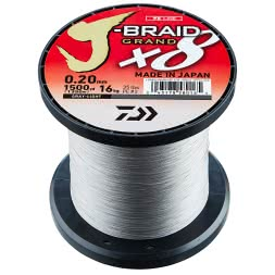 Daiwa Angelschnur J-Braid Grand X8 (hellgrau, 1.350 m)