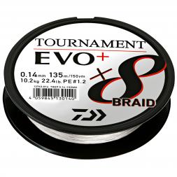 Daiwa Angelschnur Tournament X8 Braid EVO+ (135 m, weiß)