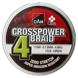 DAM® Angelschnur Crosspower 4-Braids (grün, 150 m)