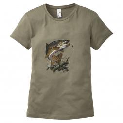 Damen T-Shirt Forelle