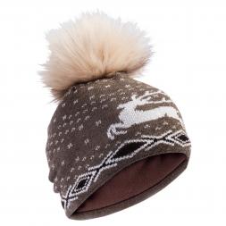 Damen Wollmütze (mit Bommel)