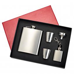 Edelstahl Taschenflaschen Geschenk-Set