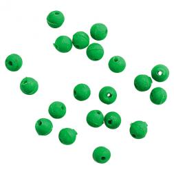 Gummiperlen (rund, grün, Ø 4 mm)