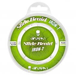 Gunki Angelschnur Slide Braid Iron-T 120 (fluo grün, 120 m)