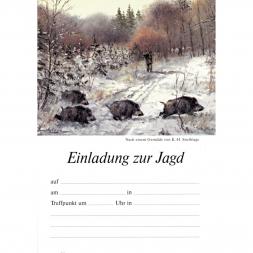 Gustav Jehn Jagdeinladungskarten