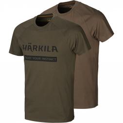 Härkila Herren T-Shirt Logo (2-Pack)