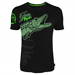 Hotspot Herren T-Shirt Fishing Mania Pike