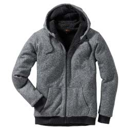 il Lago Basic Herren Sweatjacke SPIRIT ULTRA BLACK