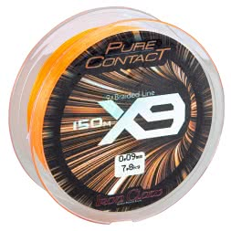 Iron Claw Angelschnur Pure Contact X9 (orange)