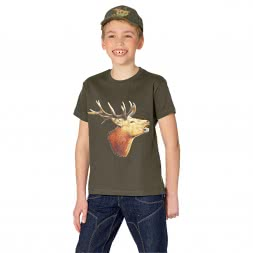 Kinder T-Shirt Hirschkopf