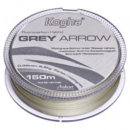 Kogha Angelschnur Fluorocarbon Hybrid Grey Arrow (grau, 150 m)