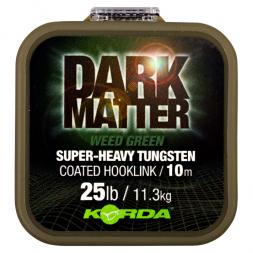 Korda Angelschnur Dark Matter Tungsten Coated Braid (Weed Green)