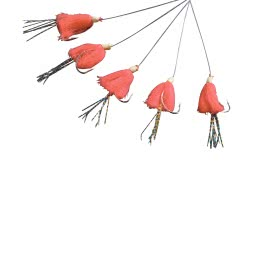 Makrelenvorfach Fluo (Japanrot)